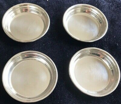 Sterling Silver Butter Pats By Webster Lot  (Set Of 4)