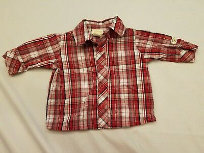 Disney Winnie the Pooh newborn shirt baby red plaid long sleeve button up target