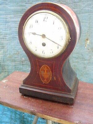 Mantel Clock Balloon Case Platform Balance Escapement Japy Freres Time  Piece