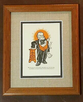 Antique Roycroft Motto Framed Print Stickley Era Arts & Crafts Ali Baba Featured