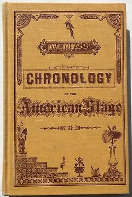 Wemyss' Chronology Of The American Stage From 1752 to 1852  Francis Wemyss 1968
