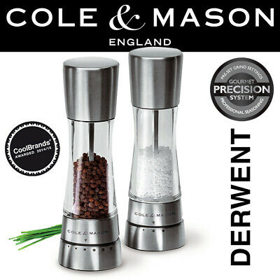 Cole & Mason Derwent Salt And Pepper Mill Set With Gift Box - H59408G