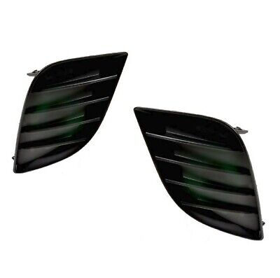 Pair Of Fog Light Hole Covers For 2014-2016 Toyota Corolla W/O Sport Bumper L Le