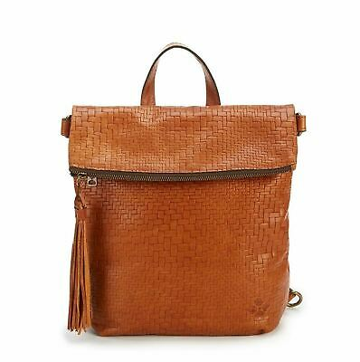 Patricia Nash LUZILLE Backpack Shoulder bag Woven Leather TAN MRP$199- A9
