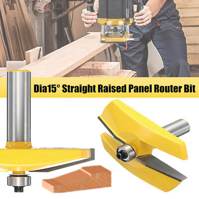 3-1/2'' Dia 15° Straight Raised Panel Frame Molding Router Bit Woodworking Tool