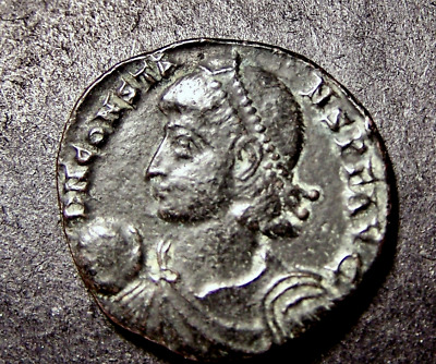 CONSTANS, Soldier Drags Captive from Hut, AE2 Imperial Roman Emperor Coin
