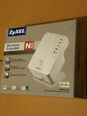 NEW! ZYXEL WIRELESS N300 Range Extender WRE2205 BRAND NEW