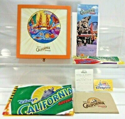Rare Disneyland California Adventure Opening Celebration Lot Tickets Guide Box