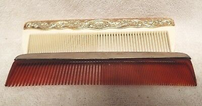 2 vintage silver combs Gorham sterling and Towle Silverplate?