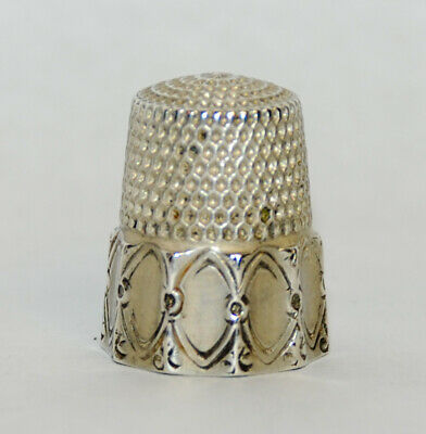 Antique Simons Brothers Sterling Silver Thimble - size 9