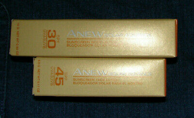 Lot of 2 Avon Anew Solar Advanced Sunscreen Lotion .50 fl and .17 oz