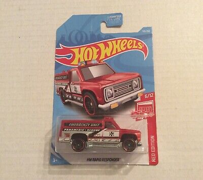 2019 Hot Wheels HW Rapid Responder Errors Red Edition Target Body Off Chassis