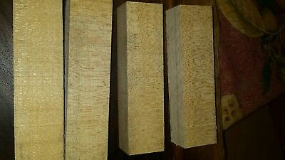 "Lot of 4 - 1.5 × 1.5 × 6"" Quarter Sawn Hardrock Maple Wood Turning Blanks"