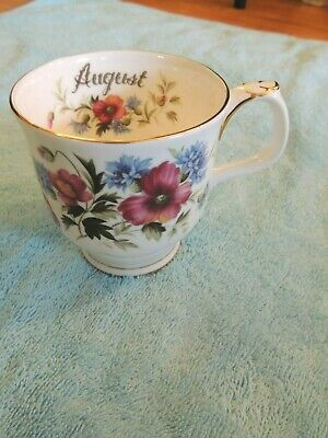 Royal Albert Flower of the Month August Poppy Mug English Bone China Coffee cup