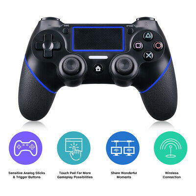 Wireless BT Gamepad Controller for Dualshock4 PS4 Sony PlayStation 4 Black Blue