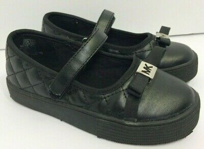 332cb7b99f9ddb MICHAEL KORS CALI Tallis T Shoes Size 7 Toddler Girls Black Bow Mary ...