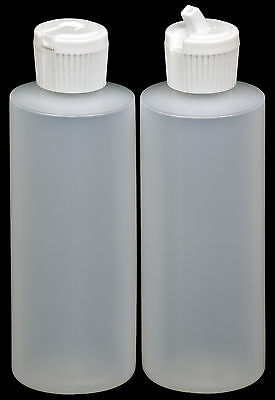 Plastic Bottle w/White Turret Lid, 4-oz., 24-Pack, New