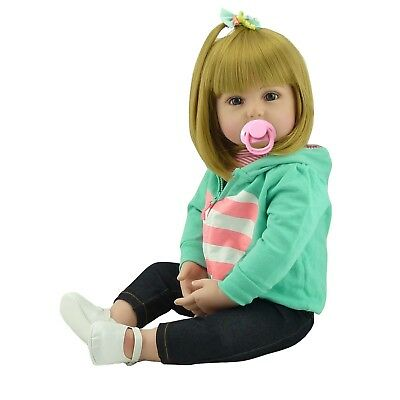 Real Looking Reborn Toddler Doll 18''45cm Realistic Lifelike Baby Girl Presents