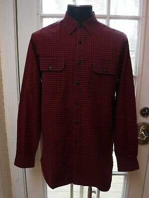 Polo by Ralph Lauren Red&Black Check Point Collar Oxford Cotton Shirt *Men's L*