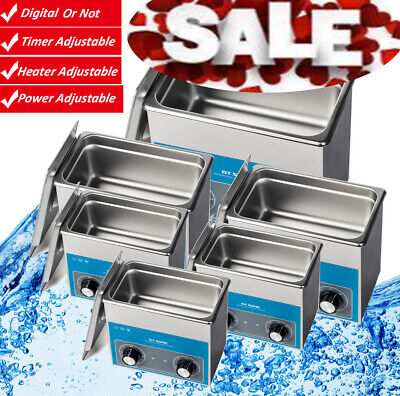 400Ml/600Ml/2L/3L Industiral Ultrasonic Cleaner Timer/Heate Stainless Steel Au