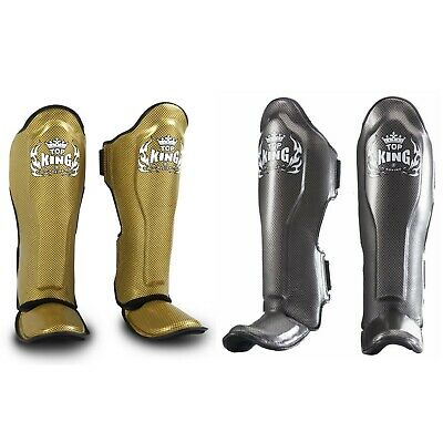 """TOP KING Shin Pads Guards /""""Pro/"""" Leather TKSGP-GL DHL Express 2-4 Days Worldwide!"""