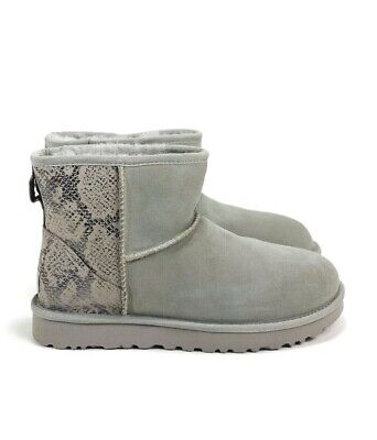 d079f5f3a22 UGG CLASSIC UNLINED Mini Metallic Leather Boots Silver Color Size 9 ...