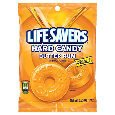 Lifesavers Hard Candy Butter Rum, 6.25 oz