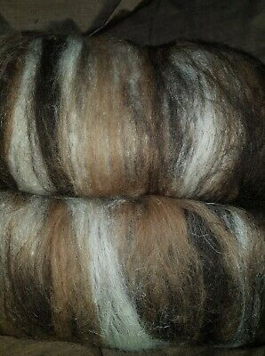220Gr Wool Batts From Rare Breed Sheep X 2 Spinning Felting  Crafts