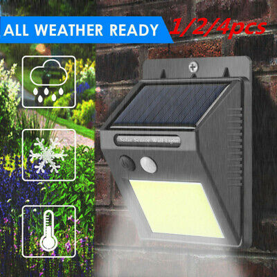 48LED Solar Powered PIR Motion Sensor Wall Security Light Garden Outdoor Lamps