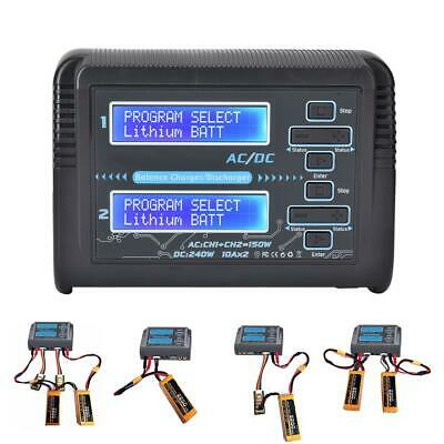 Lipo Battery Charger Double Output For Huituo HTRC C240 DUO RC Car Aircraft Kits