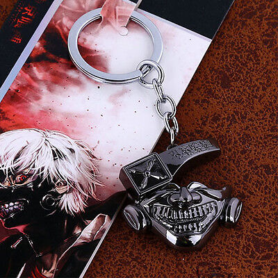 HOT Anime Tokyo Ghoul Mask Style Cool Keychain Keyring Pendant Cosplay Prop