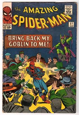 MARVEL Comics SPIDERMAN Amazing #27 1964 VG+ Green goblin 4.5 Mid grade