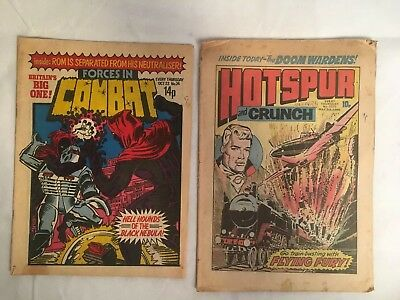 Hotspur And Crunch No 1072 May 1980 Forces In Combat Oct No 24 Vintage Comics