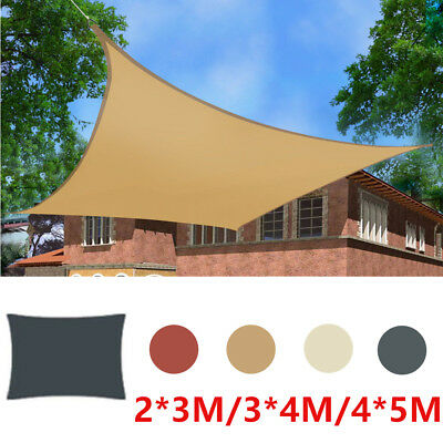 Sun Shade Sail Garden Patio Sunscreen Awning Canopy 98% UV Block Sand Outdoor UK
