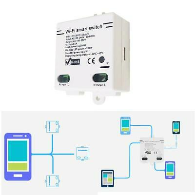 Smart Home WiFi Wireless Switch Module For IOS Android APP Ctrl 6MB4O White CC