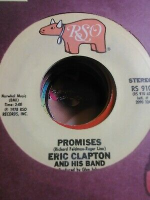 Eric Clapton and His Band, Promises ~ 1978 RSO 45 +sleeve