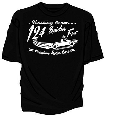 """""""Introducing The New"""" 124 Spider by Fiat Retro T-Shirt."""