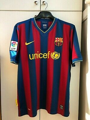 4daaef39c4d Fc Barcelona Spain 2009/2010 Home Football Shirt Jersey Camiseta Maglia Nike  L