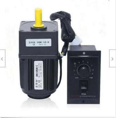 220V 15W AC gear motor electric motor variable speed controller 1:10 125RPM