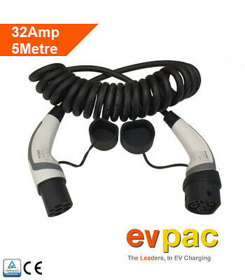 Renault Compatible EV Charging Cable Type 2 (62196-2) 32amp 5metres