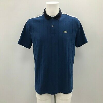 092df088d9f2 NEW LACOSTE Blue Fine Polo Top Classic Casual Chic Mens UK MED WE021152