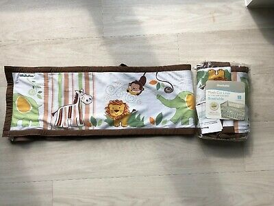 Breathable Baby 2 Sided Mesh Cot Liner Bumper, Jungle Theme