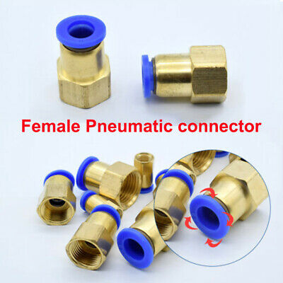 10pcs Female Thread BSP Stud to Push in Pneumatic Air Quick Connect Tube Fitting