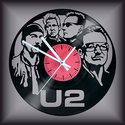 Reloj disco de vinilo LP Regalo original cumpleaños U2 Pop Rock