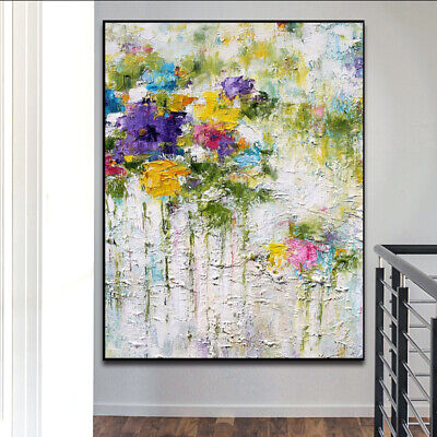"""YA510 CANVAS Hand-painted oil painting Abstract flower Unframed 24""""x36"""""""