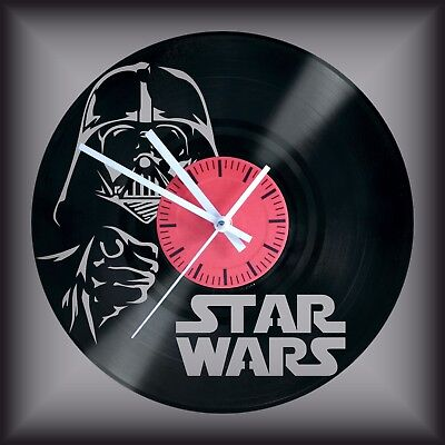 Reloj disco de vinilo LP Regalo original cumpleaños Darth Vader  Star Wars