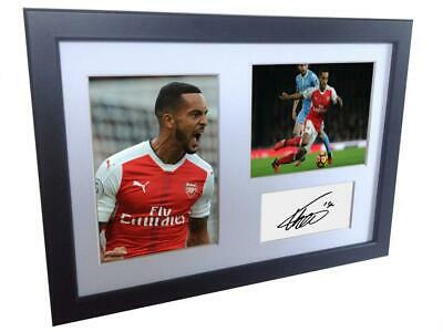 Signed Theo Walcott Autographed Arsenal Photo Picture Frame Memorabilia A4
