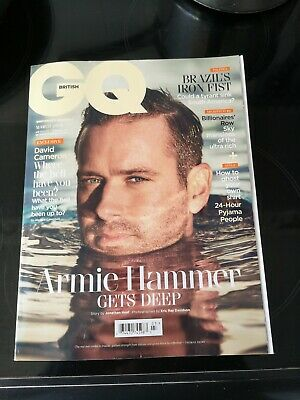 ARMIE HAMMER BRITISH GQ UK MAGAZINE - MARCH 2019 COVER Timothee Chalamet