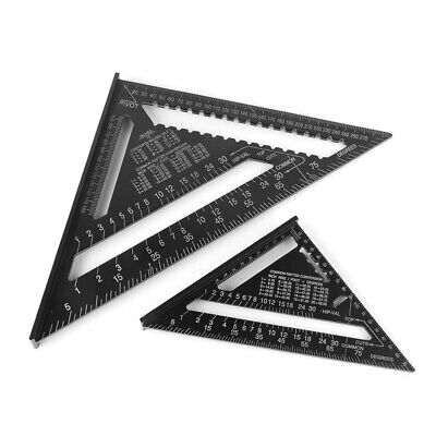 Aluminum Alloy Triangle Angle Protractor Speed Square Measuring Ruler Miter US
