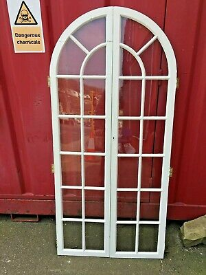 Pair Of Internal Arched Glass Panel Doors 1660mm X 770MM WEST YORKSHIRE
